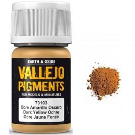 Pigmento Vallejo Ocre Amarillo Oscuro 35