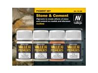 Set Pigmentos Piedra y Cemento 4uds