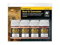 Set Pigmentos Óxido y Corrosión 4uds