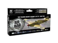 Set Air War 8 colors WWII RAF Desert
