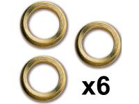 Constructo Ojos De Buey Latón 10mm (6)