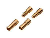 2 Parejas Conector Dorado Fuelle 4,00 mm