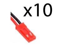 10uds Conector BEC Macho con cable