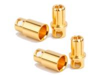 2 Parejas Conector Dorado M-H 5,50mm