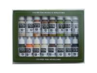 Set of 16 Model Color Earth Tones