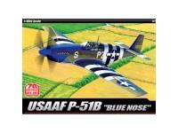 Academy Avión USAAF P-51B 70 Blue Nose 1/48