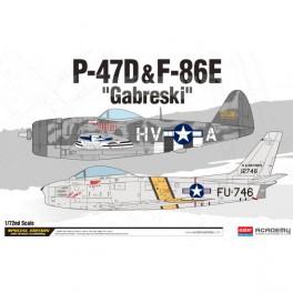 Academy Avión P-47D & F-86E Gabreski1/72