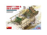 Tanque Soviet T-70 M+ZiS - 3 & Crew 1/35
