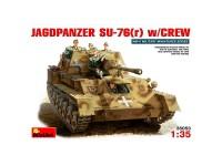 Tanque German Jagdpanzer SU-76r+crew1/35