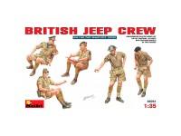 MiniArt Figuras British Jeep Crew. 1/35