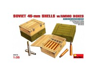 Acc.Soviet 45mm Shells + Ammo Boxes 1/35