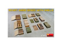 Accessories Soviet Ammo Boxes Shells 1/35