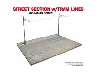 Diorama Street Section w/Tram Line 1/35