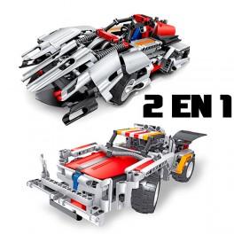 RC 2 en 1 Camión y coche Batería 326pcs