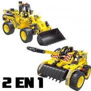 2 en 1 Bulldozer y Tanque 261pcs