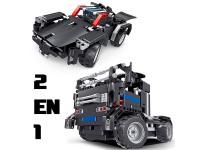 RC 2 en 1 Camión y coche Batería 486pcs