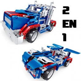 RC 2 en 1 Camión y coche Batería 455pcs