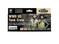 Set of 8 Model Color WWII US Tank Crew