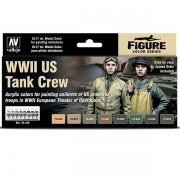 Set 8 Model Color WWII US Tank Crew