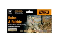 Set of 8 Colours Model Air Ruins & Rubble