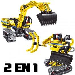 2 en 1 Excavadora y Robot 342pcs