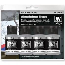 Set 4 Metal Color Aluminium Dope 35m