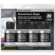 Set 4 Metal Color Aluminium Dope 32ml
