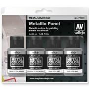 Set 4 Metal Color Paneles metálicos 32 ml.
