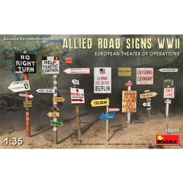 Allied Road Signs WWII Europe
