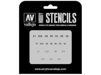 Vallejo Stencils Numerales Rusos WWII