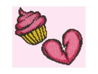 MiniArt Crafts P. Badges Cupcake. Heart