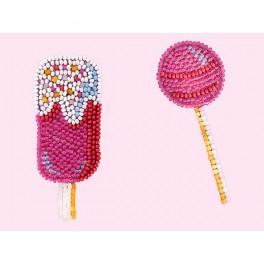 MiniArt Crafts P. Badges Lollipop. Ice Cream