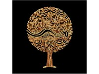 MiniArt Crafts Abstract Golden Tree