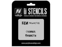 Vallejo Stencils Eslóganes Rusos WWII nº 1
