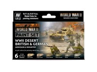 Set 6 MC Desert British & German Armour Infantry