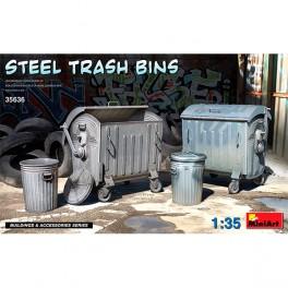 MiniArt Accesorios Steel Trash Bins1/35