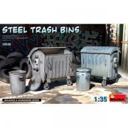 MiniArt Accessories Steel Trash Bins1/35