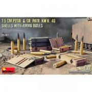 7.5 cm Pzgr Gr Patr Kw.K 40  Shells Ammo Boxes 1/35