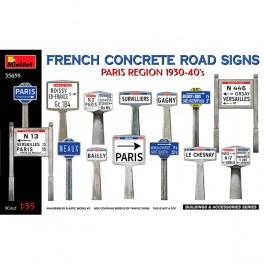 MiniArt French ConcreteSigns 30-40 Paris 1/35