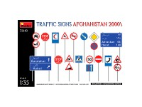 MiniArt Traffic Signs. Afghanistan 2000's 1/35