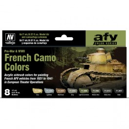 Set 8 French Camo Colors Pre-War & WWII